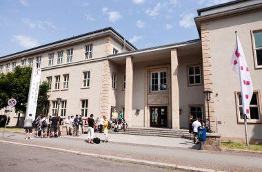 Gebäudeansicht der Hochschule für Telekommunikation Leipzig