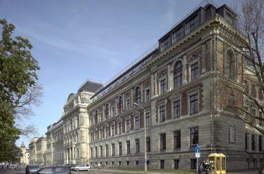 Gebäudeansicht der Hochschule für Grafik und Buchkunst Leipzig